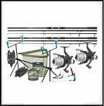 SADA CARP HUNTER LONG CAST BOILIE COMBO